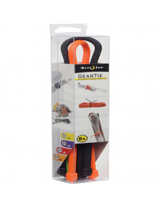 Nite Ize Gear Tie Square Assortment (Pack of 8) - Assorted