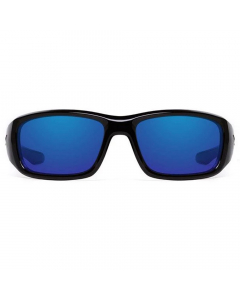 Nines Havasu Polarized Sunglasses (Glossy Black / Gray Lens Deep Blue Mirror)