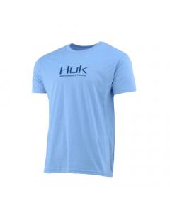 HUK Icon Short Sleeve Performance T-shirt - Plain Light Blue