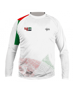 Just Fishing Knots High Performance Shirt with UAE Flag