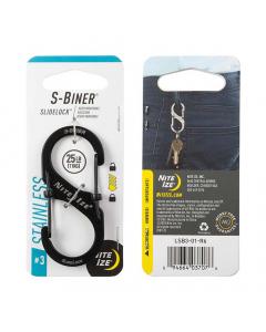 Nite Ize S-Biner SlideLock Stainless Steel #3 - Black
