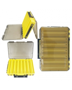 Littma Double Sided Lure Case - 14 compartments - Yellow / Black