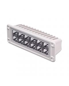 Lumitec Maxillume h60 Trunnion Mount LED Flood Light - White Housing - White Dimming Output