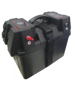 Marine 12V Battery Protection Box with USB & Cigarette Lighter Port
