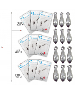 Starter Pack Rig for Bottom Fishing - Hooks with Sinkers Set - Heavy