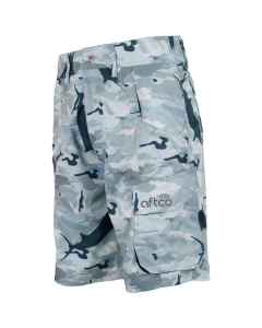 Aftco Tactical Fishing Shorts - Green Camo