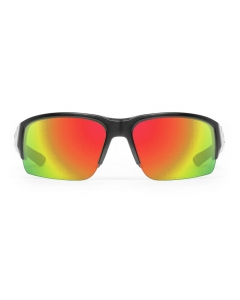 Nines Cherokee CHR002 Polarized Sunglasses (Matte Black / Amber Brown Lens Orange Mirror)