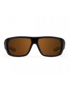 Nines St. John's SJ001 Polarized Sunglasses (Matte Black / Amber Brown Lens Orange Mirror)
