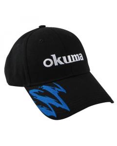 Okuma Motif Cotton Fishing Cap (Black/Blue)