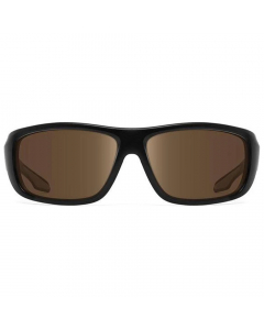 Nines Powell Polarized Sunglasses (Matte Black / Amber Brown)