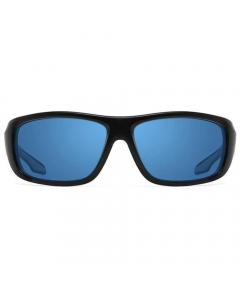 Nines Powell PL013-P Polarized Sunglasses (Matte Black / Copper Lens Light Blue Mirror)