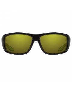 Nines Powell PL016-P Polarized Sunglasses (Matte Black / High Contrast Chartreuse)