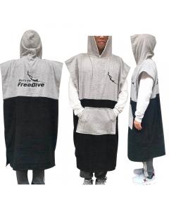 Fish2spear Poncho Towel (Black/Grey)