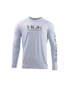 HUK Pursuit Vented LS Performance Fishing Shirt - Light Blue (Size: M)