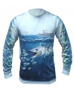 Qassar UPF50+ High Performance Full Sleeve Shirt - Kingfish