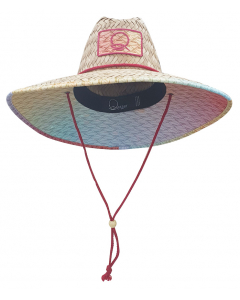 Qassar Sunshade Straw Wood Hat - Sherry