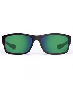 Nines Santee SA015-P Polarized Sunglasses (Amber Brown Lens Green Mirror)