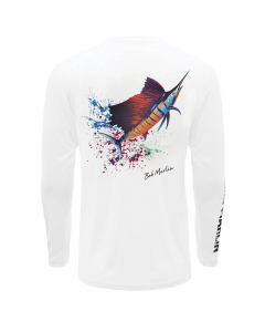 Bob Marlin Sail Rebel Performance Shirt - White