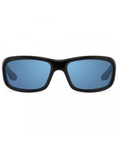 Nines Shasta SH013-P Polarized Sunglasses (Matte Black / Copper Lens Light Blue Mirror)