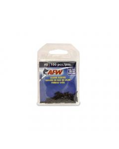 AFW J00B-B Single Barrel Sleeves (Pack of 100) Black Size#0