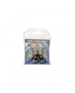 AFW Solid Brass Ball Bearing Swivels with Double Welded Rings Size #10