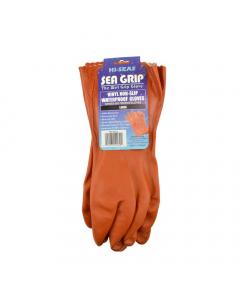 AFW Sea Grip Vinyl Waterproof Gloves - Orange, 1 Pair
