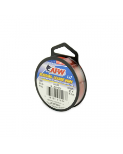 AFW Surflon, Nylon Coated 1x7 Stainless Leader - Red