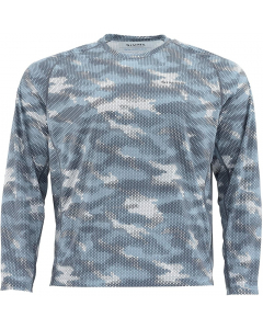 Simms Solarflex Crewneck Print Long Sleeve Shirt - HC-Storm