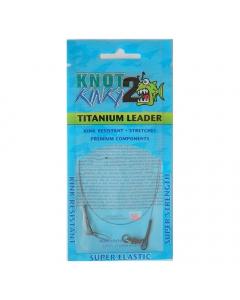 Knot 2 Kinky Pre-Tied Titanium Leader