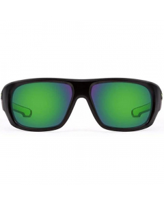 Nines St. Johns SJ015-P Polarized Sunglasses (Matte Black / Amber Brown Lens Green Mirror)
