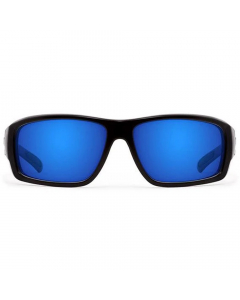 Nines Sturgeon ST014-P Polarized Sunglasses (Matte Black / Gray Lens Deep Blue Mirror)