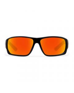 Nines Sturgeon STGN009 Polarized Sunglasses (Matte Black / Amber Brown Lens Orange Mirror)