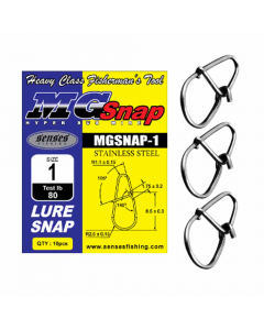 Senses Hyper SUS Wire MG Lure Snap - Chrome (Pack of 10)