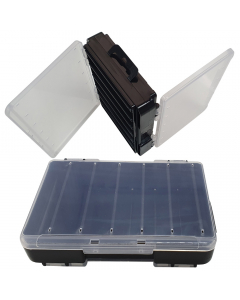 Double Sided Lure Case - Small - 12 compartments - Clear/Black