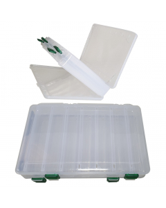 Double Sided Lure Case - Large - 14 compartments - Clear