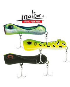 Molix S Popper 65 Floating 8.5g - Light Game - Casting Lure (Pack of 3)
