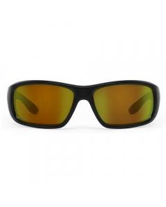 Nines Falcon Polarized Sunglasses (Matte Black / Amber Brown Lens Orange Mirror)