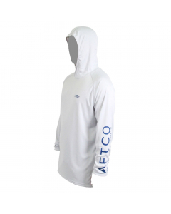 Aftco #M63201 Samurai Sun Protection Hoodie Shirt - White