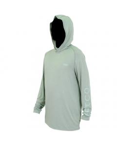 Aftco #M63126 Samurai Sun Protection Hoodie Shirt - Olive Heather