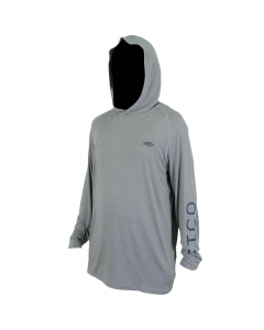 Aftco #M63126 Samurai Sun Protection Hoodie Shirt - Steel Heather
