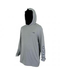 Aftco #M63126 Samurai Sun Protection Hoodie Shirt - Steel Heather
