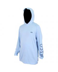 Aftco #M63126 Samurai Sun Protection Hoodie Shirt - Magnum Blue Heather
