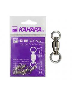 Kahara KJ Ball Bearing Swivel and Splitring (Pack of 5)
