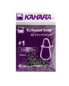 Kahara KJ Round Snap, Pack of 20 (Size# 1)