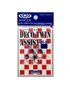 Vanfook DT-30 Deco Twin Assist Hooks, Pack of 2