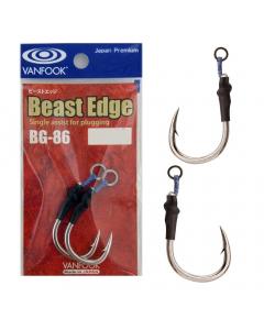 Vanfook BG-86 Beast Edge Single Assist Hook, Pack of 2