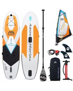 Aqua Marina Windsurf iSUP 3.3m/15cm (Sail Rig included) with Safety Leash